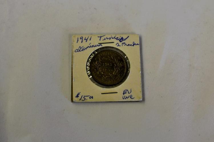 1941 2 Francs BU from Tunishia Books for $15.00