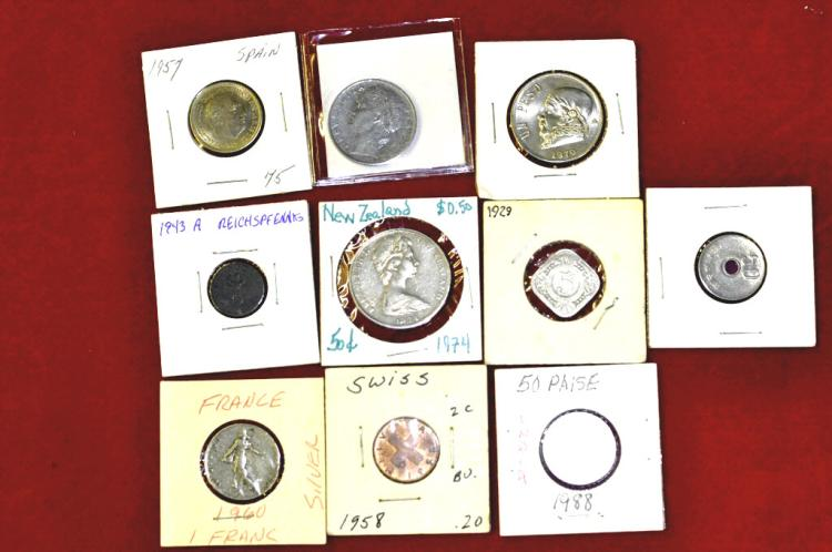 Foreign Coins from 10 Different countries