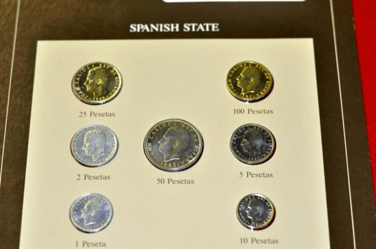 Coins of All Nations Set from Spanish State