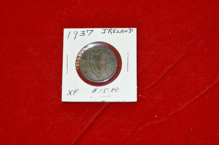 1937  Half Penny from Ireland XF Books for $15.00