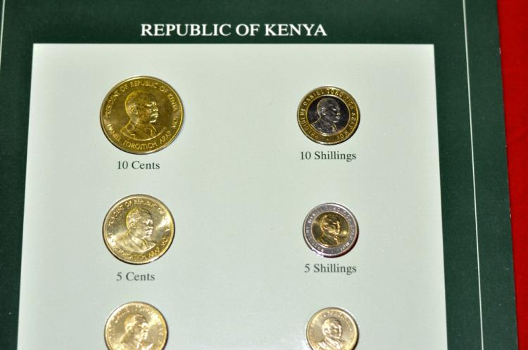 Coins of all Nations Set from Republic of Kenya