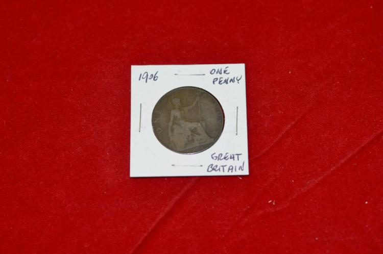 1906 One Penny from Great Britain