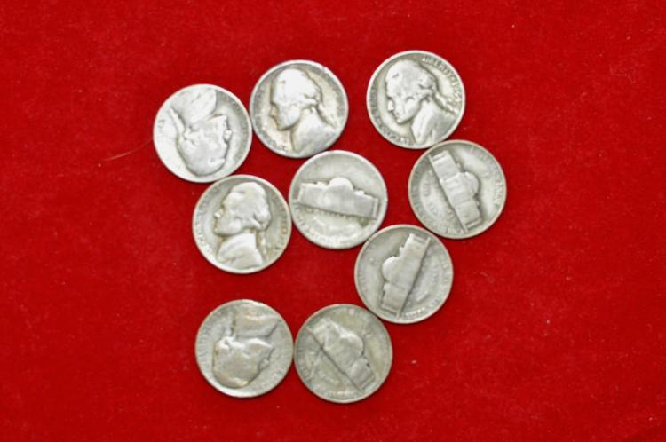 9 Silver Nickels