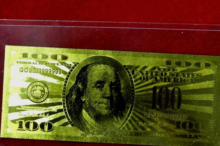 $100 24 KT Gold Banknote