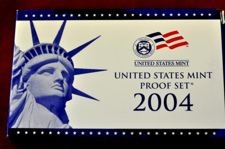 2004 U.S. Proof Set 11 Coins With COA