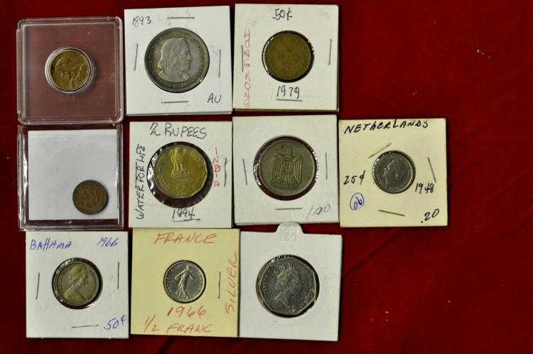 Foreign Coins from 10 different Countries Lot #8