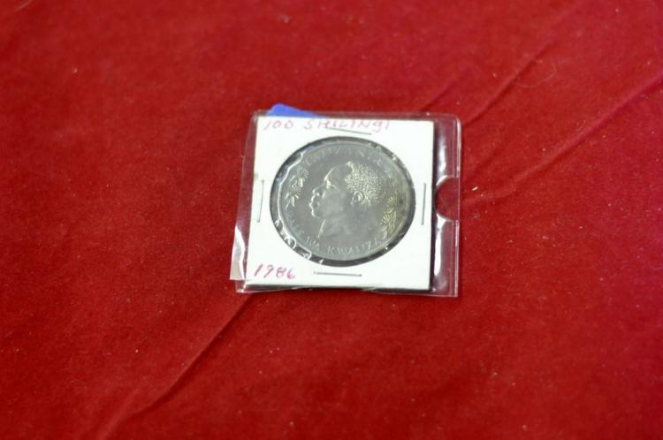 1986  100 Shilingi from Tanzania AU Silver ??