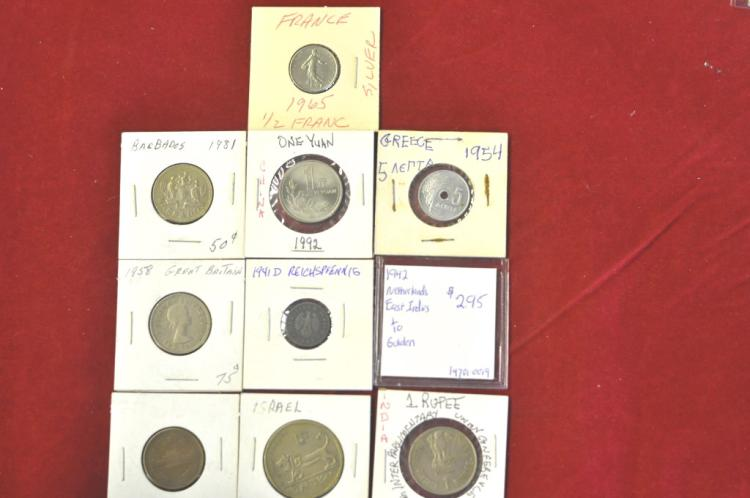 Foreign Coins from 10 different Countries Lot #10