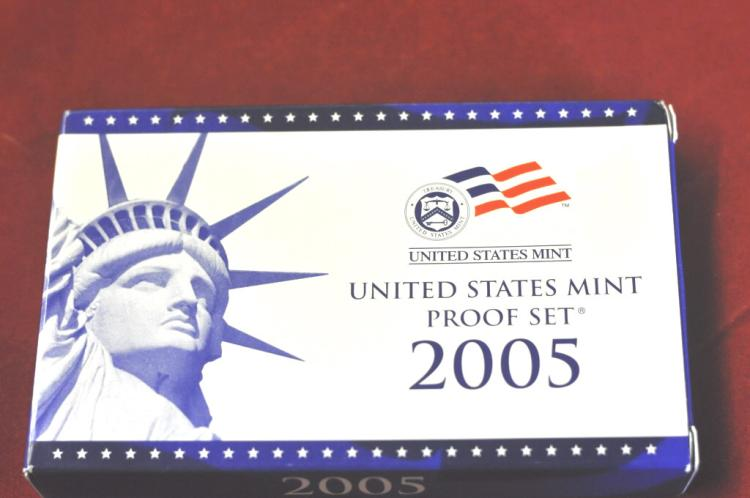 2005 U.S. Proof Set 11 Coins with COA
