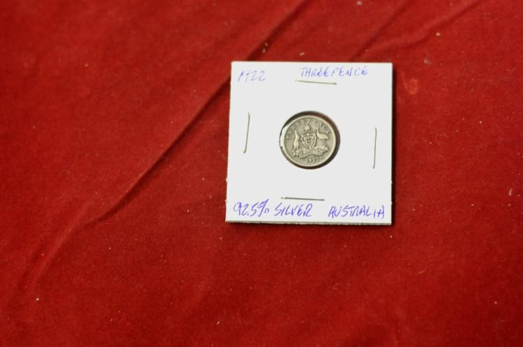 1922 Threepence from Australia 92.5% Silver