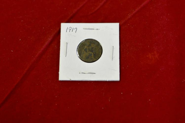 1917  Farthing from Great Britain