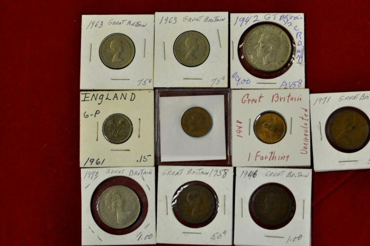 10 Coins from Great Britain