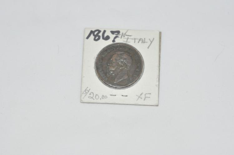 1867  10 Centesimi from Italy XF Books for $20.00