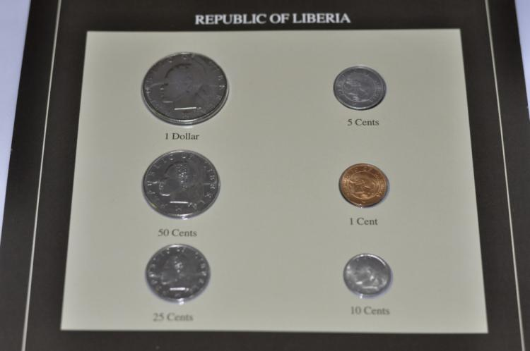 Coins of All Nations Set from Republic of Liberia