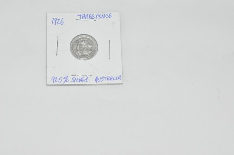 1926  Threepence from Australia 92.5% Silver