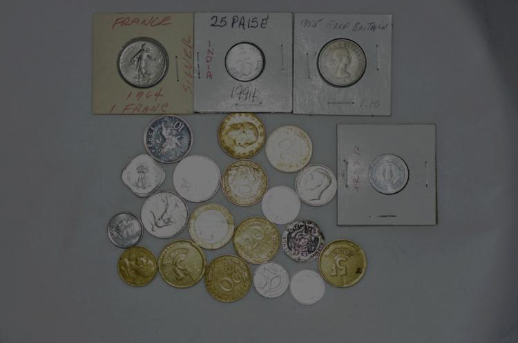 Bag of 23 Foreign Coins