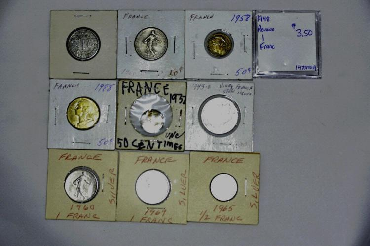 10 Coins from France