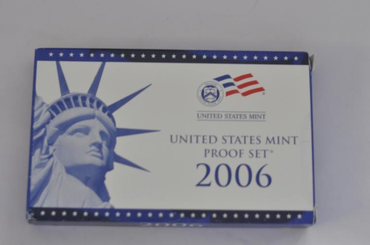 2006 U.S. Proof Set 10 Coins with COA