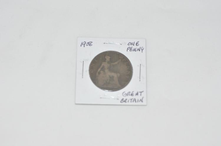 1908  One Penny from Great Britain