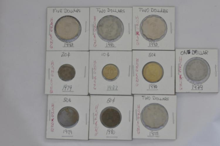 10 Coins from Hong Kong