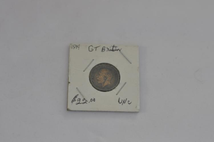 1914  Farthing from Great Britain