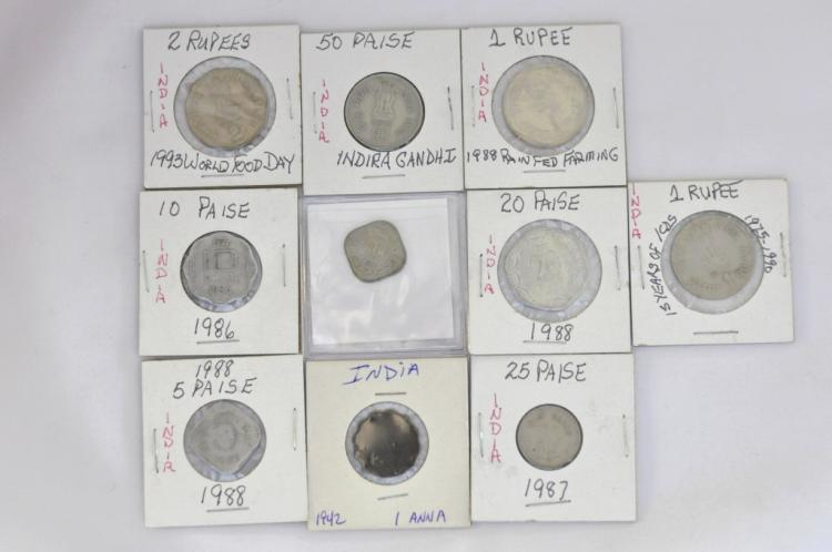 10 Coins from India