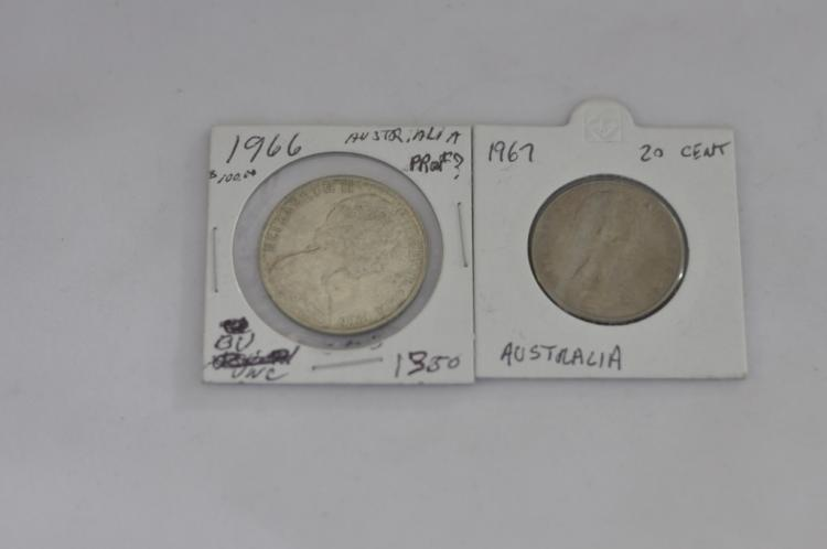 1966 50 Cent & 1967 20 Cent from Australia