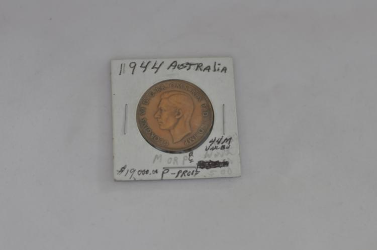 1944  One Penny from Australia UNC