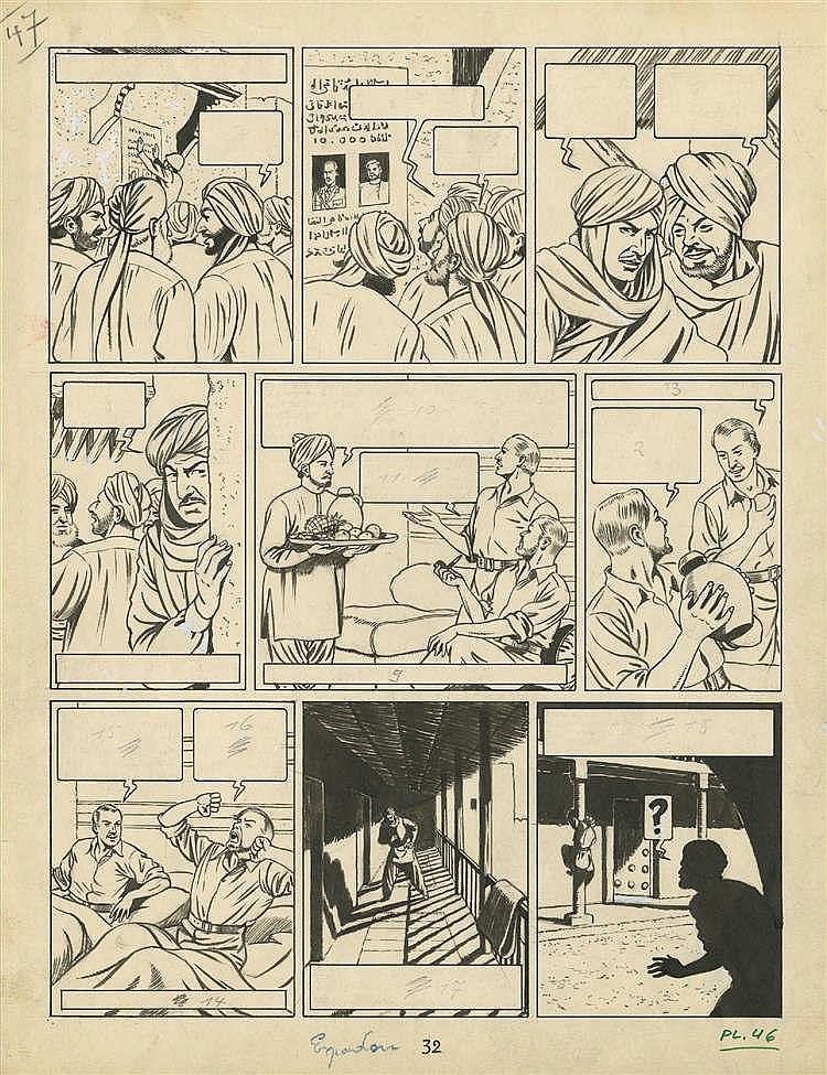 Edgar P. JACOBS (1904-1987) - Blake et Mortimer – Le secret de l'Espadon I