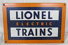 Lionel Electric Train Porcelain sign