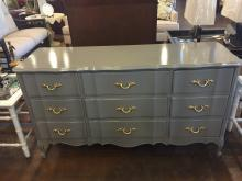 Lacquered Gray Dixie Credenza or Dresser