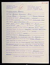 1960 Pete Rose handwritten questionnaire.