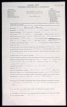 1972 Dennis Eckersley handwritten questionnaire.