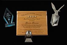 Lot of (4) Minnie Minoso presentational & award pieces related to Chicago.