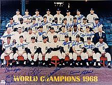 1968 Detroit Tigers autographed 16