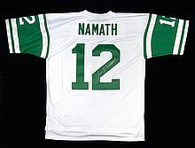 Joe Namath autographed New York Jets jersey.