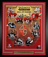 San Francisco 49ers Hall of Famers autographed composite photograph.