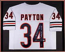 Walter Payton autographed Chicago Bears jersey with (5) inscrptions.