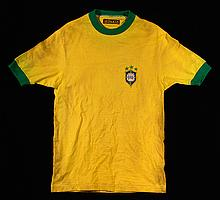 Tostao Brazil National Team professional model jersey c.1971-73 (EX)