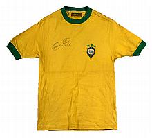 c.1971 Edson Pele Brazil National Team professional model jersey - his final season of International play (EX)