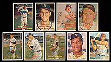 Lot of (136) autographed 1957 Topps Baseball cards including stars & HOFers.
