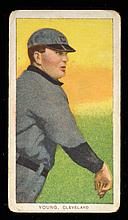 T206 Cy Young bare hand shows with Sweet Caporal back.