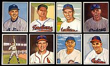 Lot of (112) 1950 Bowman Baseball cards including Hall of Famers.