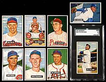 Lot of (32) 1951 Bowman Baseball cards including SGC 60 Williams.