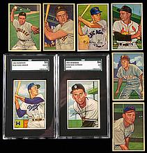 Lot of (43) 1952 Bowman Baseball cards including Hall of Famers.