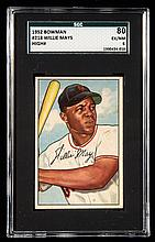 1952 Bowman #218 Willie Mays graded SGC 80 (EX/NM).