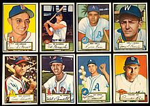 Lot of (56) 1952 Topps low numbers (black & red backs).