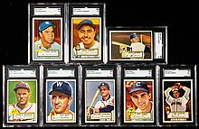 Lot of (21) graded 1952 Topps low numbers including NM/MT Munger.