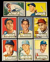 Very nice lot of (103) 1952 Topps low numbers.