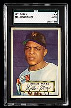 1952 Topps #261 Willie Mays graded SGC Authentic.